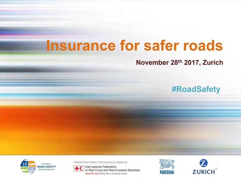 Insurance for Safer Roads: 2nd Workshop Presentation