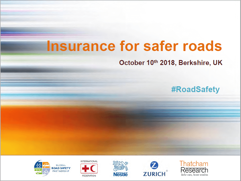 Insurance for Safer Roads: 1st Workshop Presentation